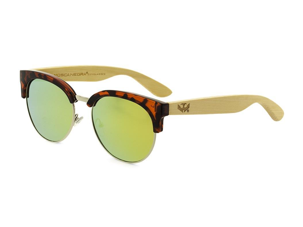 Gafas de madera Mix Metal Omega - Leopard - Polarized