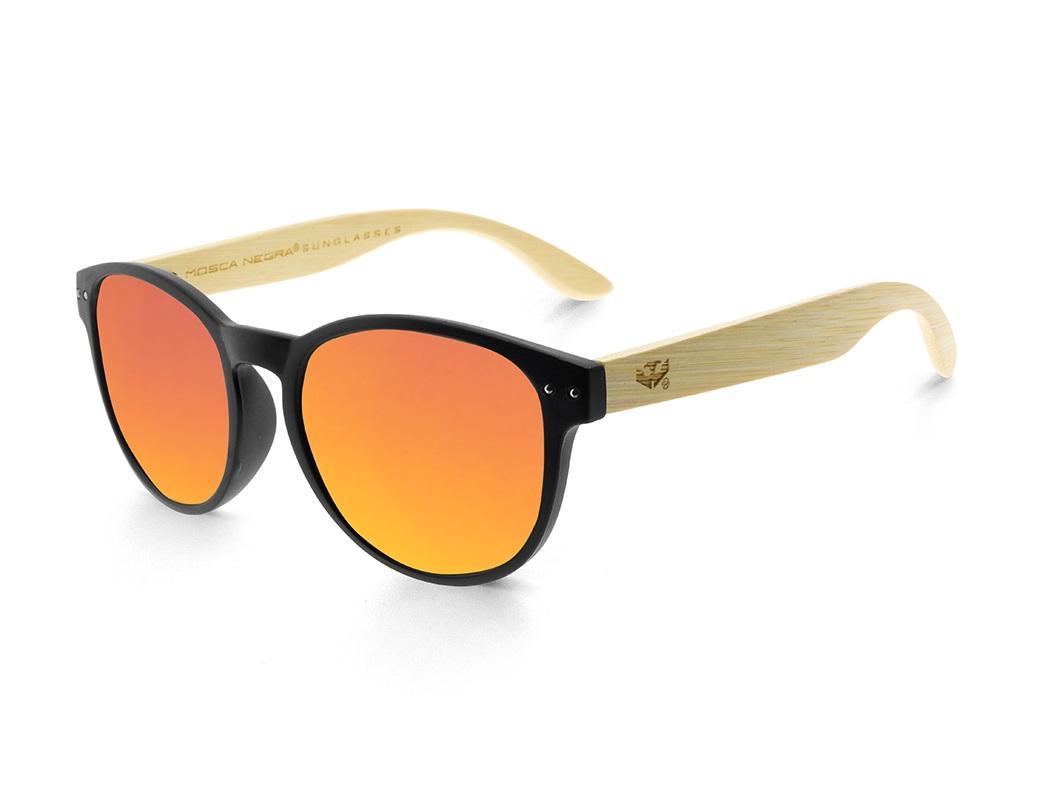 Gafas de madera Mix Omega - Solid Black - Polarized