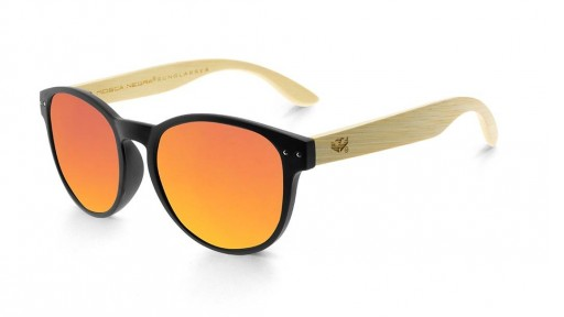 Gafas de madera Mix Omega - Solid Black - Polarized
