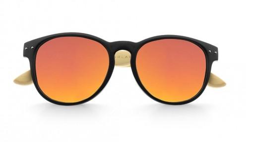 Gafas de madera Mix Omega - Solid Black - Polarized [1]