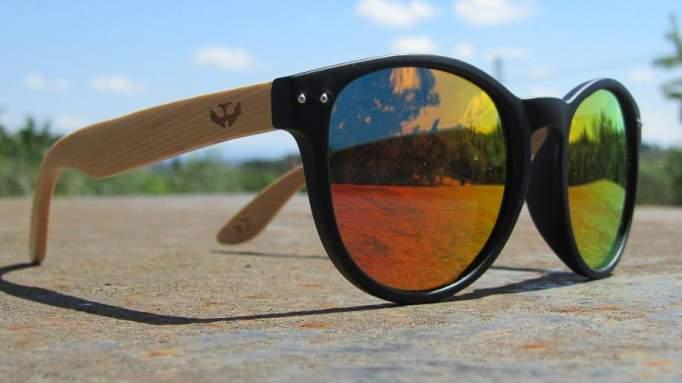 Gafas de madera Mix Omega - Solid Black - Polarized [2]