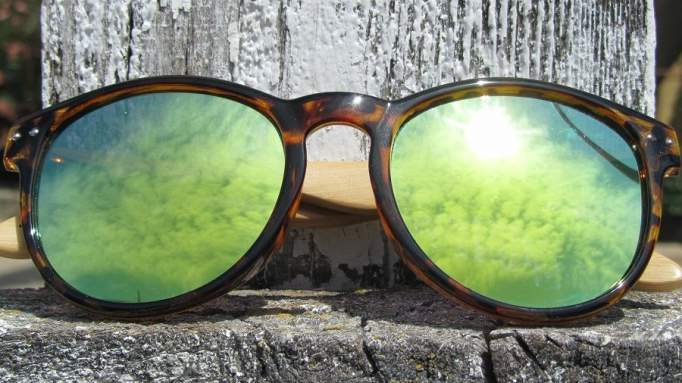 Gafas de madera Mix Omega - Leopard X1 - Polarized [3]