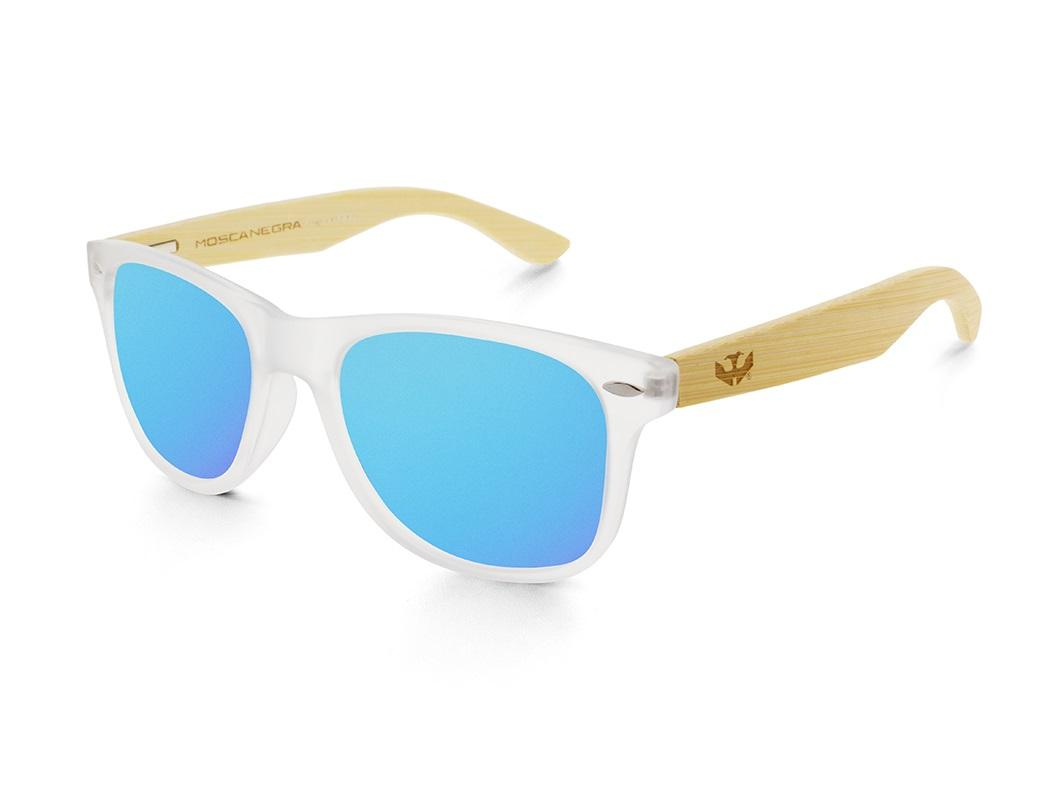 Gafas de madera Mix - Fog and Ice Blue - Polarized