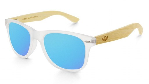 Gafas de madera Mix - Fog and Ice Blue - Polarized