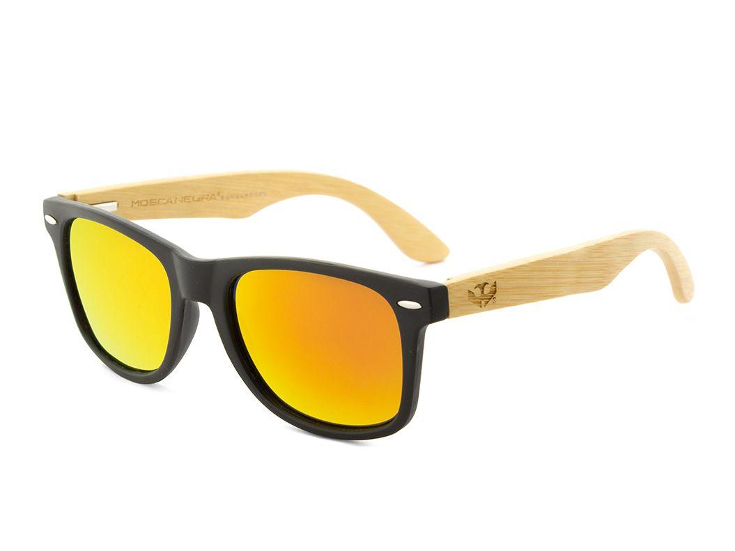 Gafas de madera Mix - Solid Black - Polarized