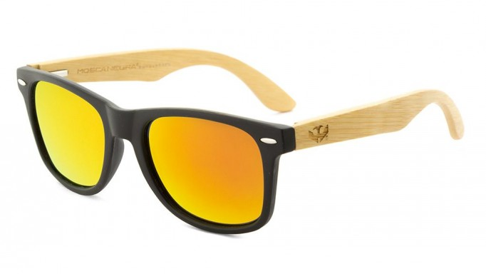 Gafas de madera Mix - Solid Black - Polarized