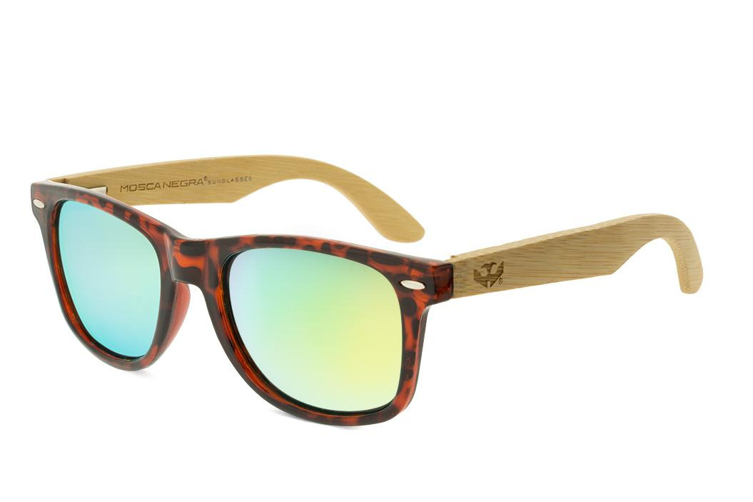 Gafas de madera Mix - Leopard - Polarizadas