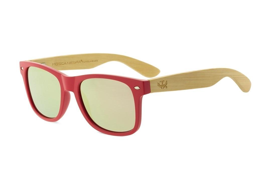 Gafas de madera MIX - Solid Pink - Polarized
