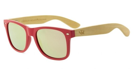 Gafas de madera MIX - Solid Pink - Polarized