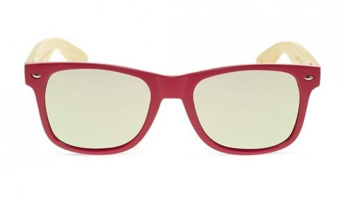 Gafas de madera MIX - Solid Pink - Polarized [1]