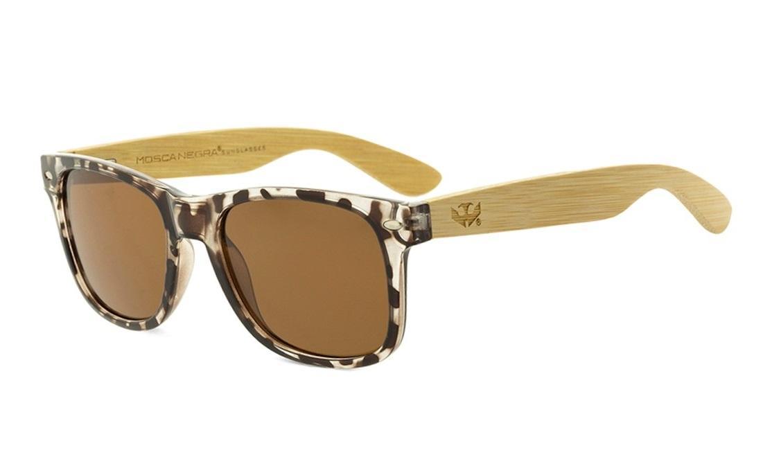 Gafas de madera Mix - Leopard Cafe - Polarized