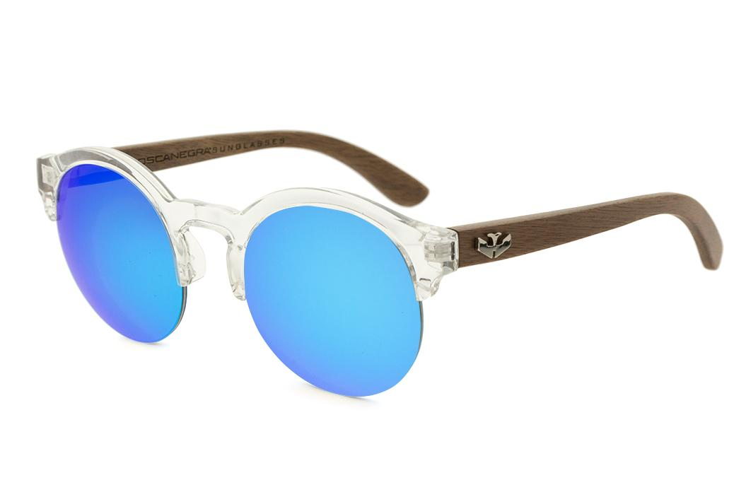 Gafas de madera Mix NOON Blue - PREMIUM