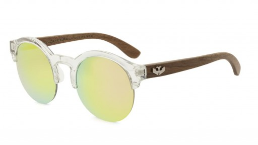 Gafas de madera Mix NOON Yellow Pink - PREMIUM