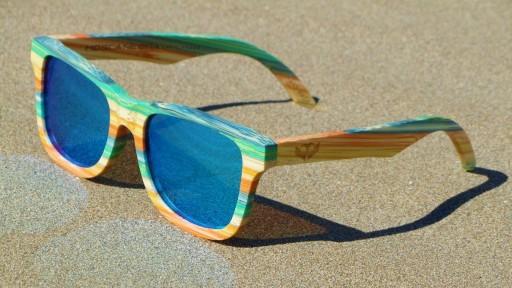 Gafas de Bambú - CoolBam and Ice Blue - Polarized [2]