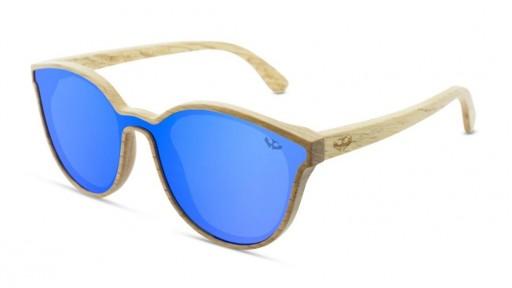 Gafas MADERA lente plana R-ZONE Blue