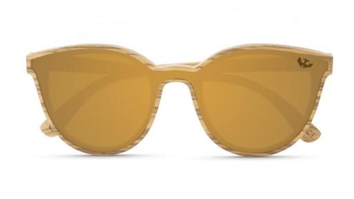 Gafas MADERA lente plana R-ZONE Brown [1]