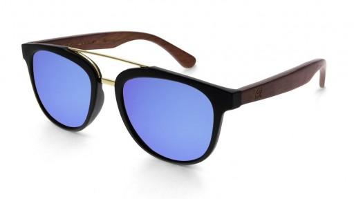 Gafas de madera MIX DOUBLE Blue - Polarized