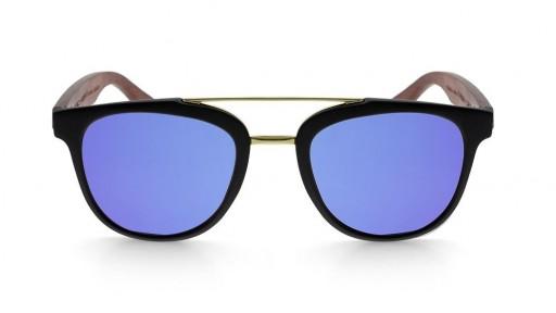 Gafas de madera MIX DOUBLE Blue - Polarized [1]