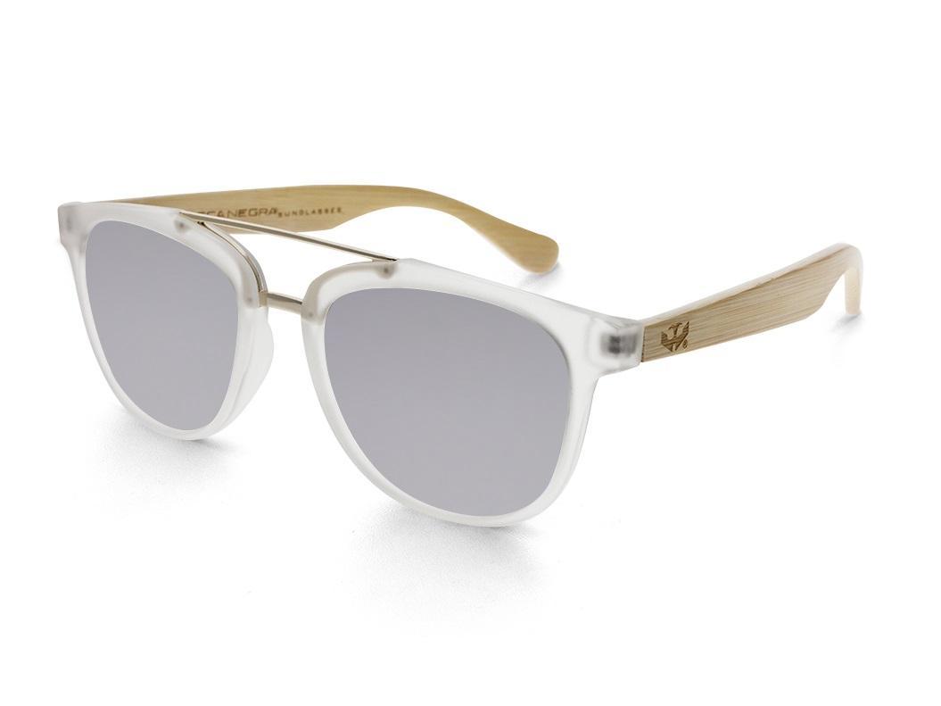 Gafas de madera MIX DOUBLE Silver - Polarized