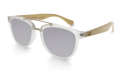 Gafas de madera MIX DOUBLE Silver - Polarized