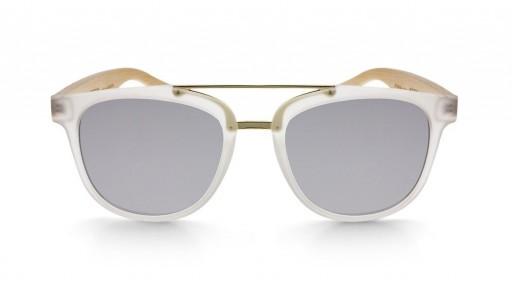 Gafas de madera MIX DOUBLE Silver - Polarized [1]