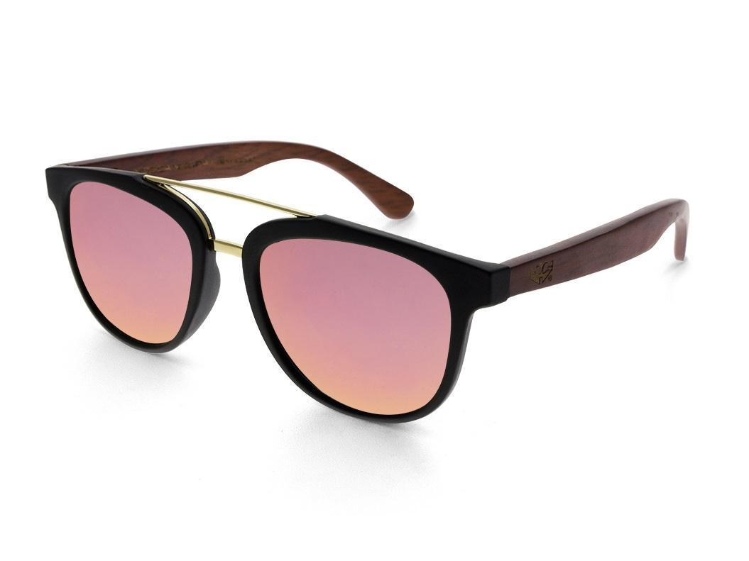 Gafas de madera MIX DOUBLE Red - Polarized