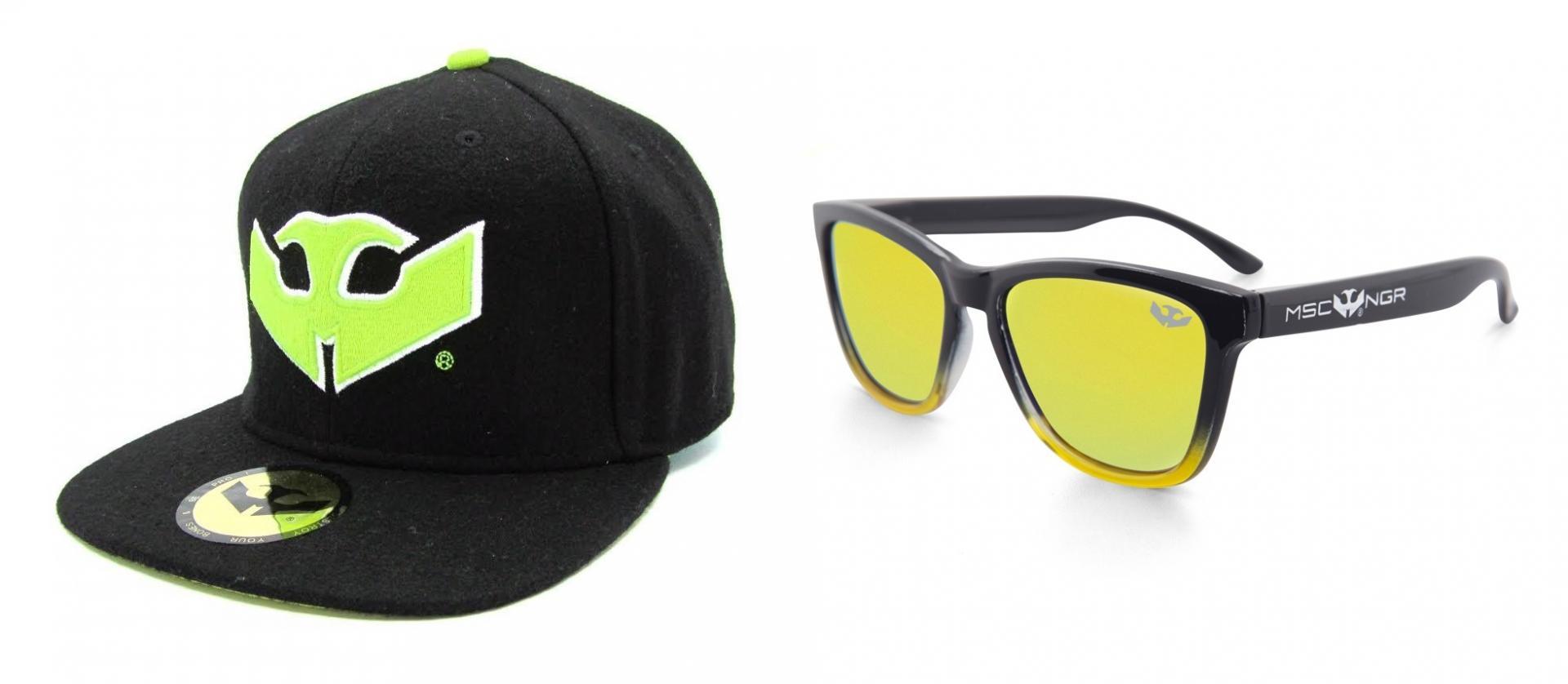 PACK Gafas ALPHA SPLASH Yellow + Gorra Plana