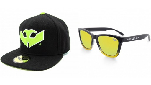 PACK Gafas ALPHA SPLASH Yellow + Gorra Plana