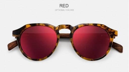 Gafas de madera La Dolce Vita Red [1]