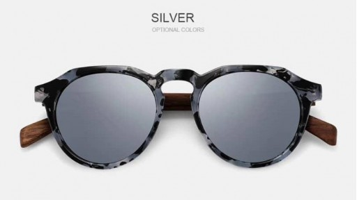 Gafas de madera La Dolce Vita Silver [1]