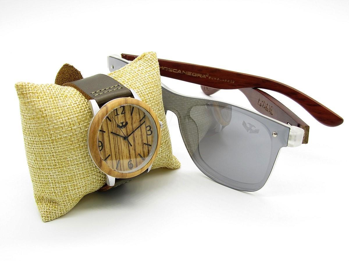 PACK Reloj + Gafas en Madera 01