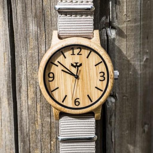 Reloj de madera Mosca Negra SLOWOOD 07 [3]