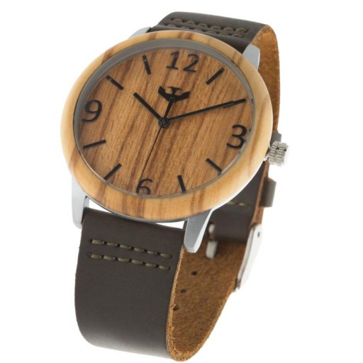 Reloj de madera y acero FUSION STEEL 01 + correa intercambiable gratis [3]