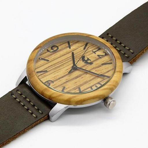 Reloj de madera y acero FUSION STEEL 01 + correa intercambiable gratis [2]