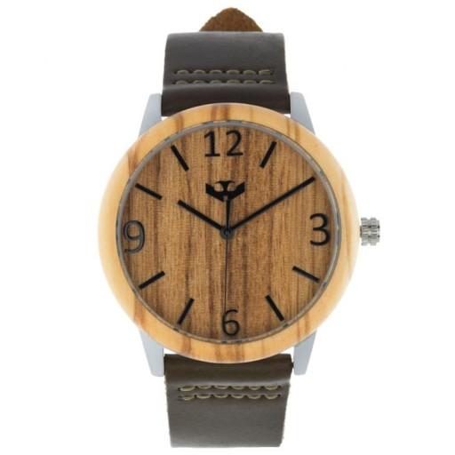 Reloj de madera y acero FUSION STEEL 01 + correa intercambiable gratis