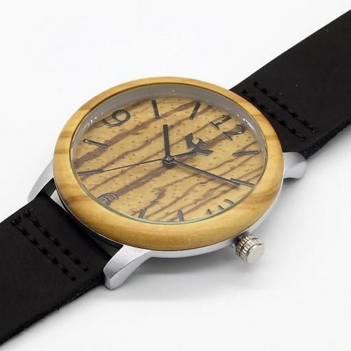 Reloj de madera y acero FUSION STEEL 02 + correa intercambiable gratis [2]