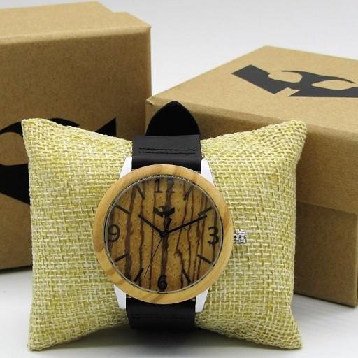 Reloj de madera y acero FUSION STEEL 02 + correa intercambiable gratis