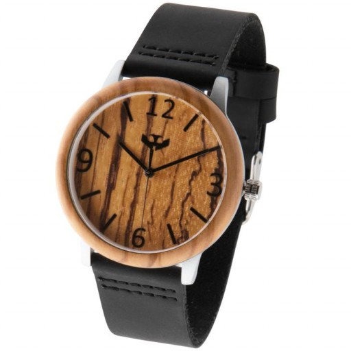 Reloj de madera y acero FUSION STEEL 02 + correa intercambiable gratis [3]