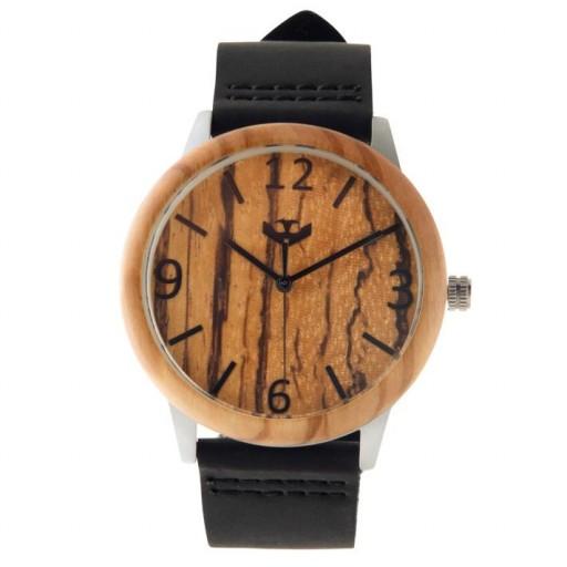 Reloj de madera y acero FUSION STEEL 02 + correa intercambiable gratis [1]