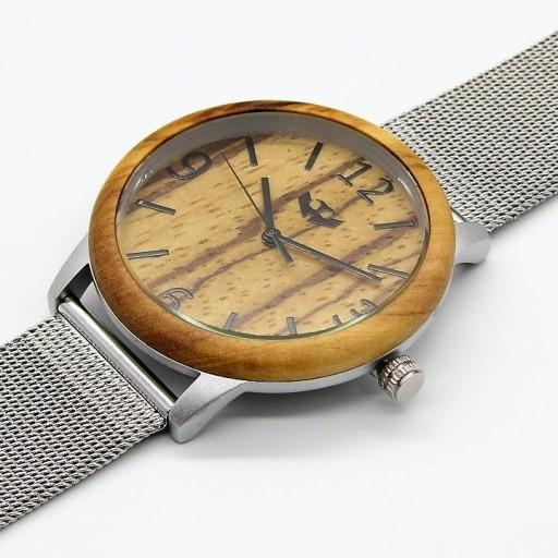 Reloj de madera y acero FUSION STEEL 03 + correa intercambiable gratis [2]