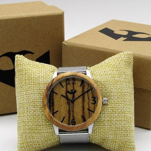 Reloj de madera y acero FUSION STEEL 03 + correa intercambiable gratis