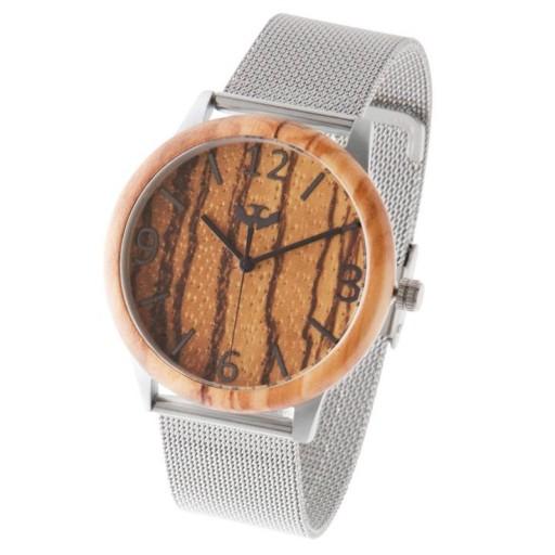 Reloj de madera y acero FUSION STEEL 03 + correa intercambiable gratis [3]