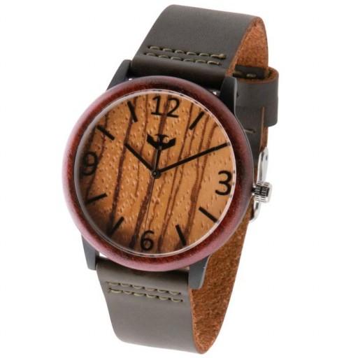 Reloj de madera y acero FUSION BLACK 01 + correa intercambiable gratis [3]