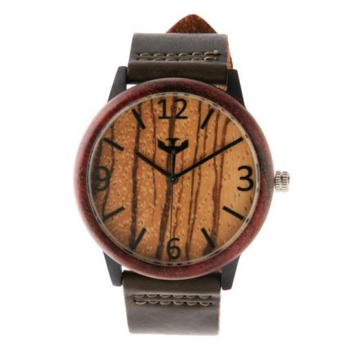 Reloj de madera y acero FUSION BLACK 01 + correa intercambiable gratis [1]
