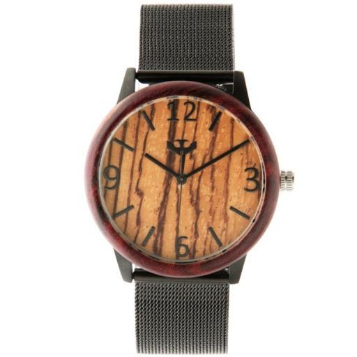 Reloj de madera y acero FUSION BLACK 06 + correa intercambiable gratis [1]