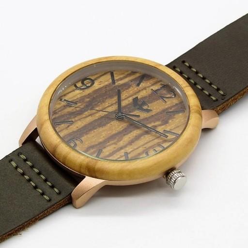 Reloj de madera y acero FUSION ROSE GOLD 01 + correa intercambiable gratis [2]