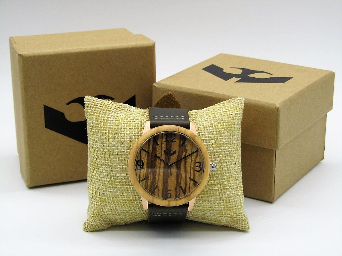 Reloj de madera y acero FUSION ROSE GOLD 01 + correa intercambiable gratis
