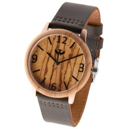 Reloj de madera y acero FUSION ROSE GOLD 01 + correa intercambiable gratis [3]