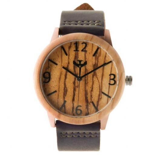 Reloj de madera y acero FUSION ROSE GOLD 01 + correa intercambiable gratis [1]