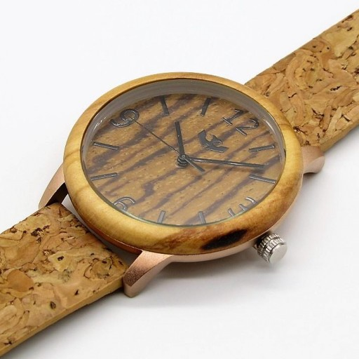 Reloj de madera y acero FUSION ROSE GOLD 05 + correa intercambiable gratis [2]